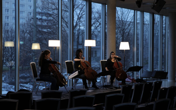 Vita Monteverdi Scelsi<br />with Sarah Iancu and Marion Platero